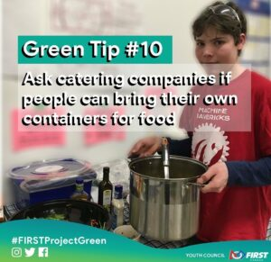 Green Tip #10 Ask companies if people can bring their own containers