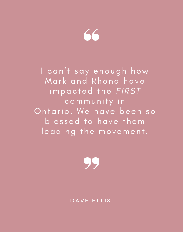 I can't say enough how Mark and Rhona have impacted the FIRST community in Ontario. We have been so blessed to have them leading the movement. - Dave Ellis